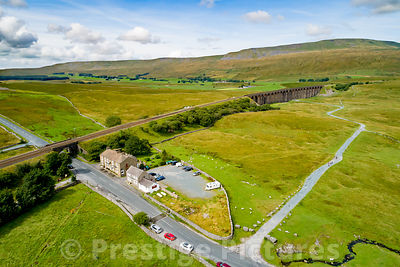 Aerial view of the Station Inn at Ribblehead