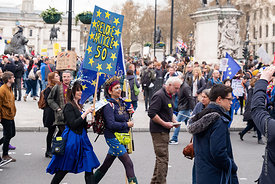 #124608,  Anti-Brexit march to Parliament Square, London, 23rd March 2019.  A million people of all ages marched demanding a ...