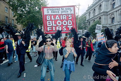 Don't Attack Iraq. Demonstration on Iraq and Palestine in London Saturday, 28 September 2002.