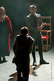 #72240 student Macbeth,  Dress Rehearsal for Shakespeare's, 'Macbeth', Rose Bruford College, Sidcup, Kent.