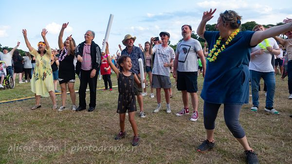 CROMER, UK: 17 and 18 July 2021, people having fun at the Legends Festival, Cromer Hall, Norfolk, England.