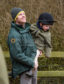 Angus Smales at the meet. The Cottesmore Hunt at Preston Hall 4/1