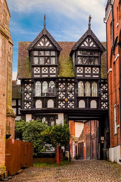Grade 1 listed Council House Gate house in Shrewsbury