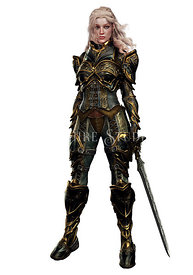 Female Knight or Warrior in Armor