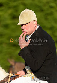 Andy Brown at the meet. The Quorn Hunt at Fox Covert Farm 10/1