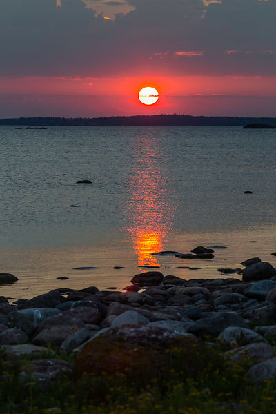 Sunset in archipelago