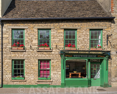 Old shop in Tetbury town, Cotswolds