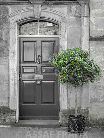 Entrance door of a old house in Tetbury, Cotswolds