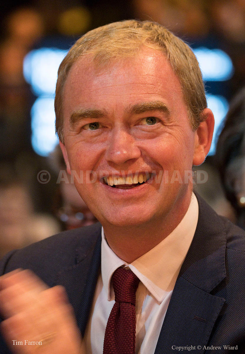 England, UK . 19.9.2017. Bournemouth . Liberal Democrats Conference. Tim Farron.