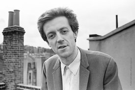 #74837,  Cornelius Cardew (1936-1981), avant-garde musician and composer, on the rooftops, Fitzrovia, London.  3rd July 1970.