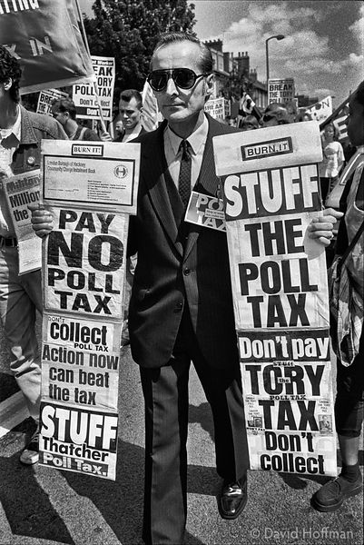 YQ78-10 Poll Tax protests, Hackney, May/June 1990.