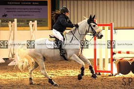 Unaffiliated showjumping. Brook Farm Training Centre. Essex. UK. 03/12/2017. ~ MANDATORY Credit Ellen Szalai/Sportinpictures ...
