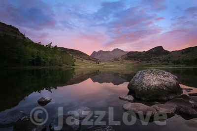Sunrise at Blea Tarn in Lake District, UK