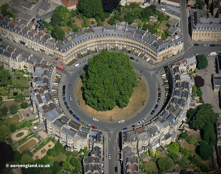 The Circus Bath Somerset  from the air