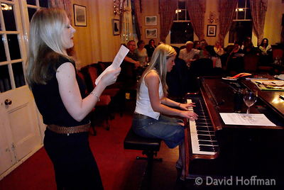 Annie and friends at singing class performance. White Hart, Mortlake, July 2007.