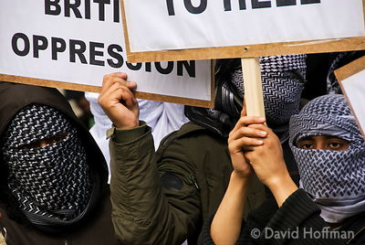 070615-227 Muslim demonstration against police oppression and terrorist stereotyping opposite Downing Street, Whitehall, Lond...