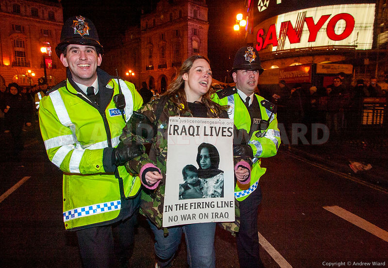 England, UK. 15.2.2003. London. Demonstration against the imminent invasion of Iraq by Stop The War Coalition, the Campaign f...