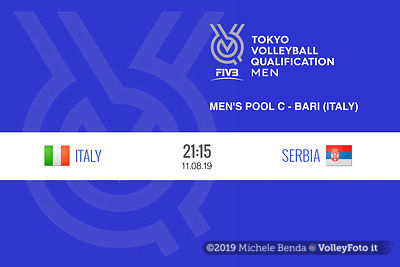 ITALIA vs SERBIA, 2019 FIVB Intercontinental Olympic Qualification Tournament - Men's Pool C