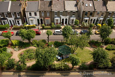 Fassett Square, East London, opened for one day under the Open Gardens scheme. 10 June 2007