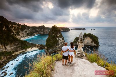 Adult couple at thousand islands, Nusa Penida, Bali