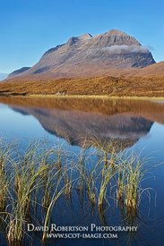 Image - Liathach reflected in Loch Clair, Torridon, Westewr Ross, Highland, Scotland