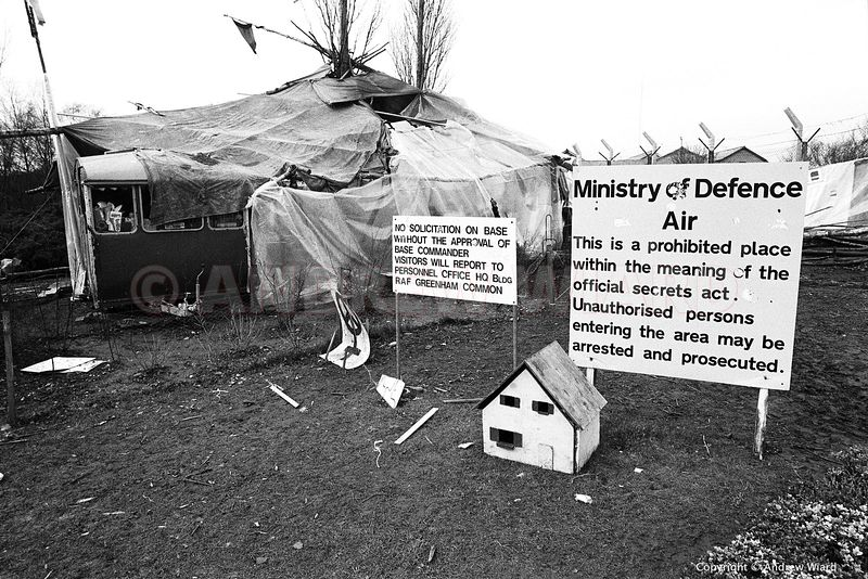 England, UK. 8.2.1982. Greenham Common Peace Camp. On the 5th September 1981 a small group of Welsh women arrived outside the...