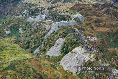 TILBERTHWAITE 02A - Aerial view of the Tiberthwaite Slate Quarries