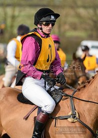 Rupert Onslow before the start. The Melton Hunt Club Ride 17/2