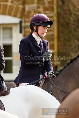Anna Edwards at the meet. The Cottesmore Hunt at Pickwell 31/12