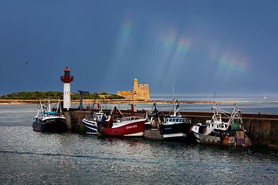 Fishing boats, St. Vaast la Hougue, Normandy, France.