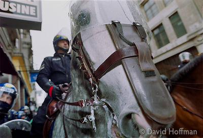 01050101-20 Police at the Mayday protests, central London, 2001.