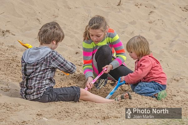 HAVERIGG 25A - Children playing in the sand on Haverigg Beach