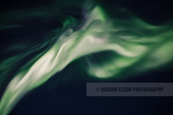Northern lights corona in Lapland