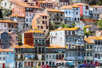 Colorful buildings, Ribeira district, Porto, Portugal