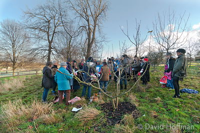 Wassailing in Hackney, London.