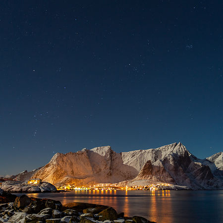 Winter sky in Lofoten
