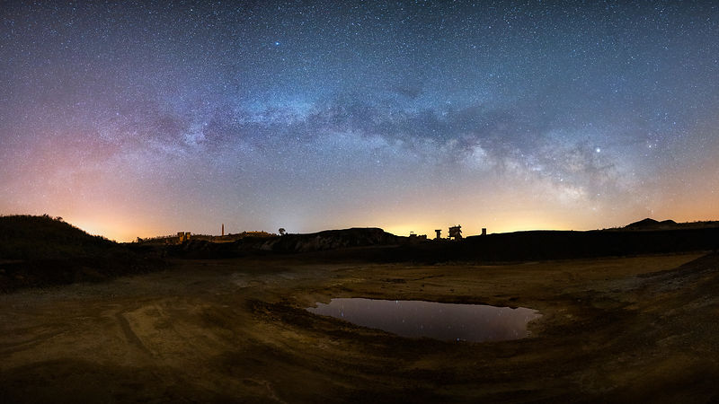 Milky Way - Jupiter - Antares in Achada do Gamo, Mina S. Domingos, Alentejo - Portugal
