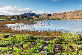 Walled garden and Loch Ewe