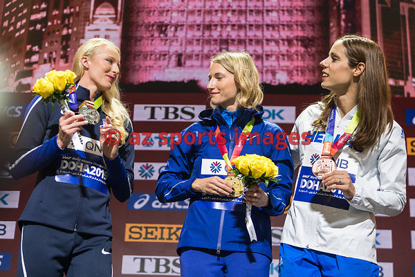 Sandi Morris (USA) - Anzhelika Sidorova (Authorised Neutral Athlete) - Katerina Stefanidi (Greece)