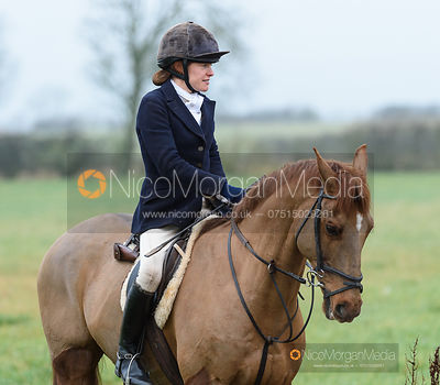 Kate Chenery at the meet. The Belvoir Hunt at Long Clawson 21/1