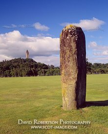 Image - Airthrey Stone, Wallace Monument, Stirling, Scotland