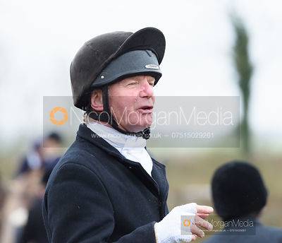 Charles Millington at the meet. The Cottesmore and Fernie Hunts at Hill Top 10/12