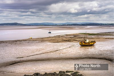 MORECAMBE 53A - Fishing boat at low tide