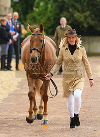 Georgie Spence and HALLTOWN HARLEY at the trot up, Mitsubishi Motors Badminton Horse Trials 2019