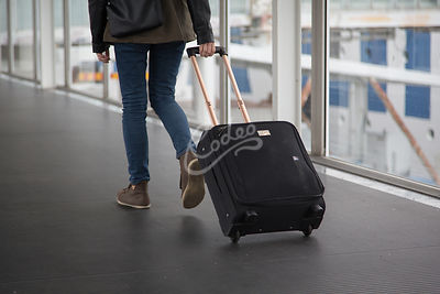Female with suitcase