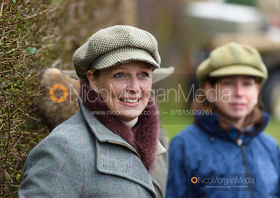 Sallyanne Brooksbank at the meet. The Cottesmore and Fernie Hunts at Hill Top 10/12