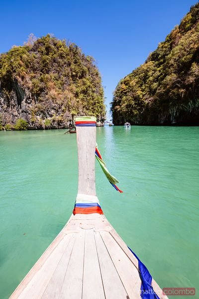 Longtail boat bow, Hong island, Railay, Thailand
