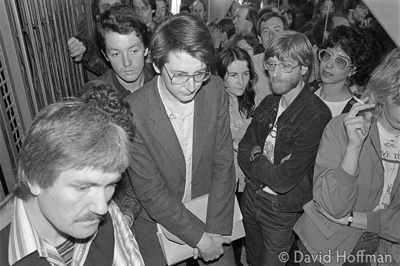 Time Out staff being evicted from their offices in Southampton Street, Covent Garden during their strike for equal pay for al...
