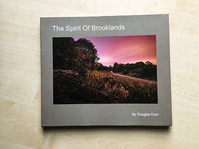 The Spirit Of Brooklands Book containing long exposure photographs of the  Brooklands Motor Racing Circuit at night