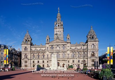 Image - Glasgow City Hall in George Square, Glasgow, Scotland